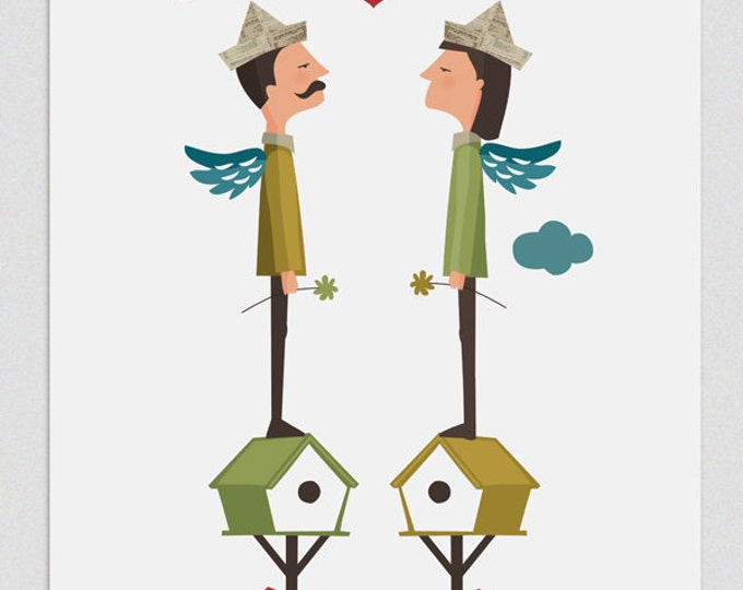 """Ilustración """" Amor loco """"."""