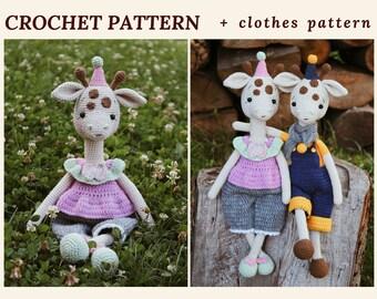 Giraffe Crochet Pattern Amigurumi Giraffe Pattern Crochet Toy PDF Pattern