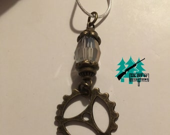 Gem and Gear Necklace