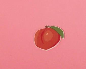 Peach Pin [brooch lapel pin orange]