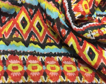 Chiffon Fabric  Abstract Tribal