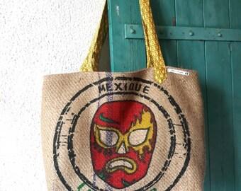 Large handbag Tote burlap coffee bag
