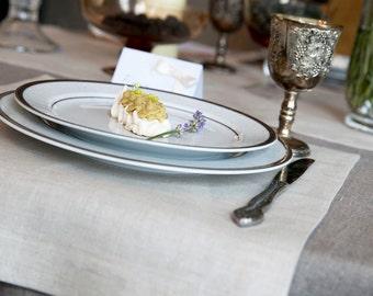 White Natural Linen Placemats Set of 2, Cloth Dinner Napkins, Wedding Napkins, Linen Napkins, Fabric Placemats, Placemats, Restaurant Napkin