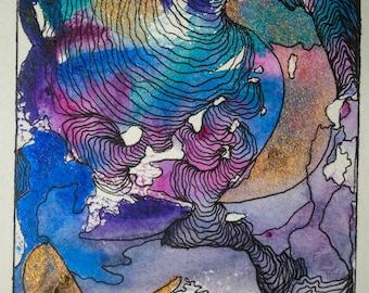 Ripple (Original Watercolor Painting)