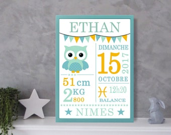 Poster - OWL - OWL personalized birthday gift