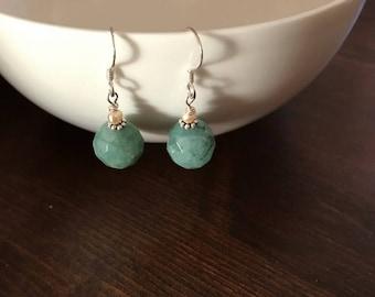Elegant pearl silver earrings