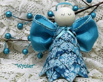 No Sew Quilted Fabric or Wired Ribbon Angel Ornament Pattern