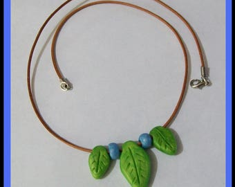Leaves - Polymer Clay Bead Necklace