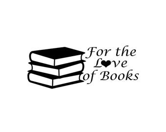 For the love of books car decal