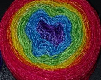 Rainbow Gradient Sock Yarn, Superwash Merino Nylon - Cloudy Rainbow Gradient