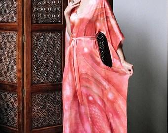 4d1eabba355a Golden Dress Perfection Loose Silk Gown Flower of Life