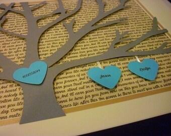 First Wedding Dance Song, 11X14 Unframed 3D Paper Tree Wedding Gift, Anniversary, Song Lyrics Art, First Dance Lyrics
