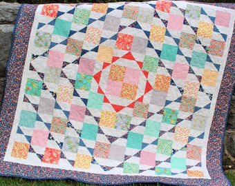 PDF Quilt PATTERN ....Layer Cake or Fat Quarter Friendly Nellie's Hope Chest