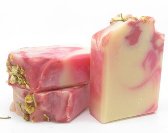 Handmade Water Lily and Jasmine Soap with Buttermilk Artisan Soap  - Homemade Soap by Hickory Ridge Soaps