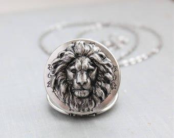 Lion Locket Necklace