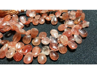 SunStone, Pear Beads, Wholesale Gemstones, Approx 7x10mm Each, 15 Pieces Approx, 3 Inch Half Strand