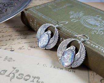 Pewter Angel Earrings