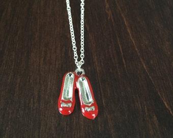 Wizard of Oz necklace, Wizard of Oz jewelry, Wizard of Oz, Dorothy Wizard of Oz, Wizard of Oz shoes, Wizard of Oz shoes necklace, Jewellery
