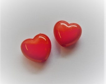 10mm Candy Heart Beads, 30CT. B42
