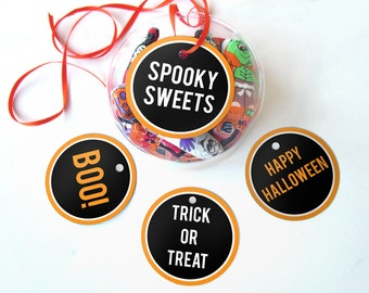 Printable Halloween Tags, Halloween Printables, Instant Download Halloween Favor Tags, Digital Halloween Gift Tags, Halloween Toppers