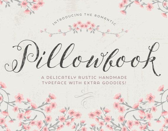 Script font pillowbook font plus extras modern calligraphy Modern script font