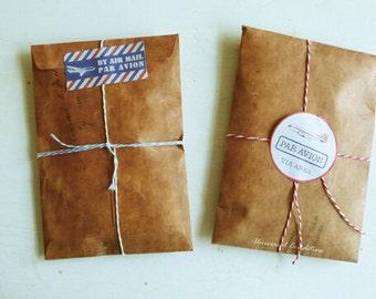10pcs 16×11cm Vintage Paper Envelope Set Kraft Paper Envelopes DIY Letter Envelopes
