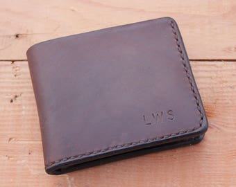 Bifold Wallet•PERSONALIZED•Mens Leather Wallet• Money Clip Wallet• ID Slot Mens Gifts•Anniversary Gift•Groomsmen Gift