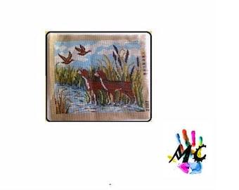 Canvas to achieve pattern dog size: 25.5 x 31 cm