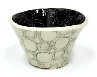 Hand Built Ceramic Circle Bowl