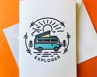 Camper Van A6 Card with Envelope