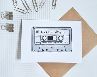 Personalised Mix tape greetings card