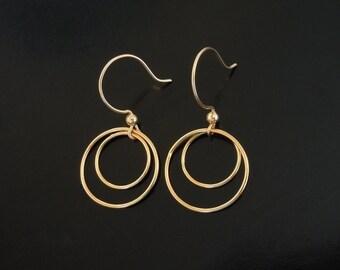 Hoop Earrings in Gold