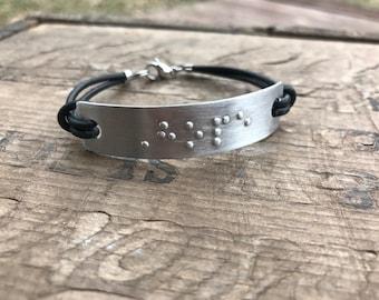 Personalized Braille Bracelet || Personalized Friendship Bracelet Custom Braille Secret Message
