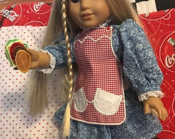 "18"" American Girl doll apron & play food"