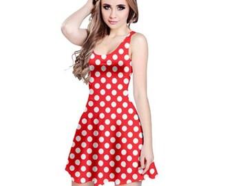 Red and White Polka Dot Dress // Minnie Dress // Disney Dress // Disneyland // walt disney world