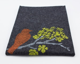 Kindle, Nook, Kobo or Galaxy Case - 100% Merino wool - Charcoal