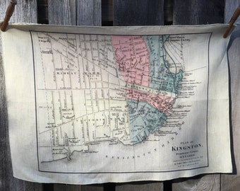 City of Kingston map tea towel - FREE SHIPPING