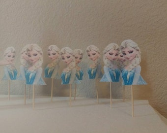 Frozen Cupcake Toppers Frozen Party Supplies