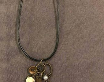 Steam Punk scissor necklace