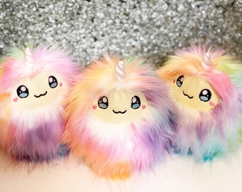 Unicorn Yeti Yeticorn Handmade Kawaii Plush Doll