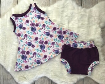 Girls Tunic Top And Shorties | Baby Summer Outfit | Diaper Cover