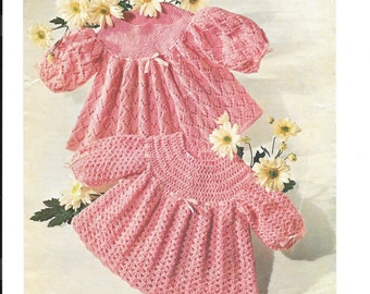 Crochet and Knitting Pattern for 4 Ply Dresses / tops PDF