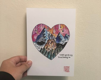 A5 Print- Will you be my travel Buddy?