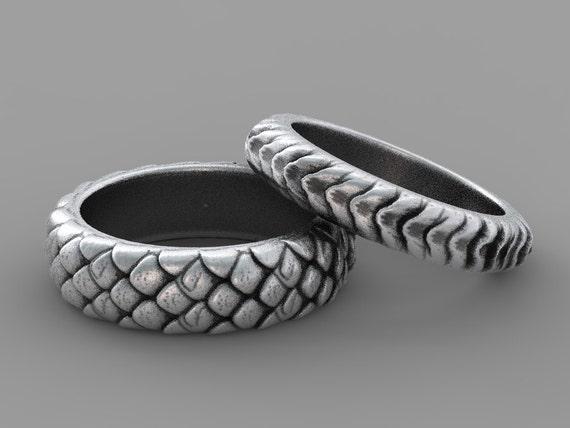 dragon scales ring game of thrones ring geek wedding ring