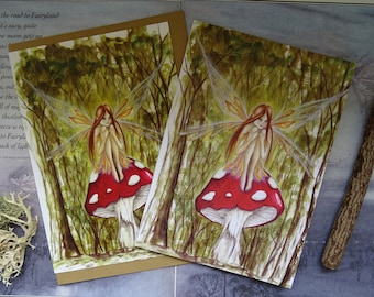 Fairy Notebook and Card Set ~ Woodland Wish