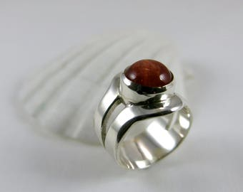 Ring with sunstone