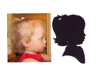 Medium 8x10 inch Custom Silhouette Portrait