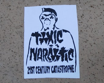 SALE toxic narcotic sew on gas mask figure back patch