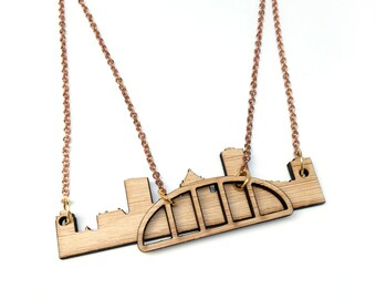 Rochester City Skyline Necklace