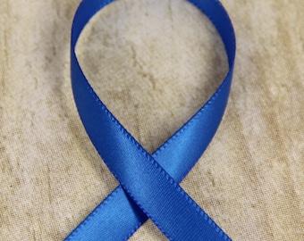 """Ribbon  -  3/8"""" Single Sided Royal Blue Satin Ribbon, Bow, Hair Ribbon, Crafting, Wedding, Ribbon by the yard, DIY satin ribbon"""